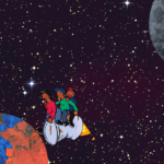 trip to the moon background image