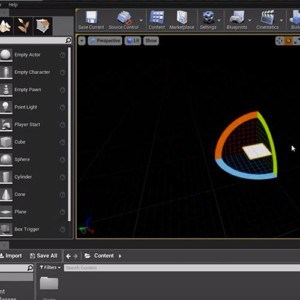 Computer screen showing Unreal Engine software