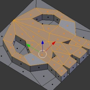 Example of 3D model using Blender software