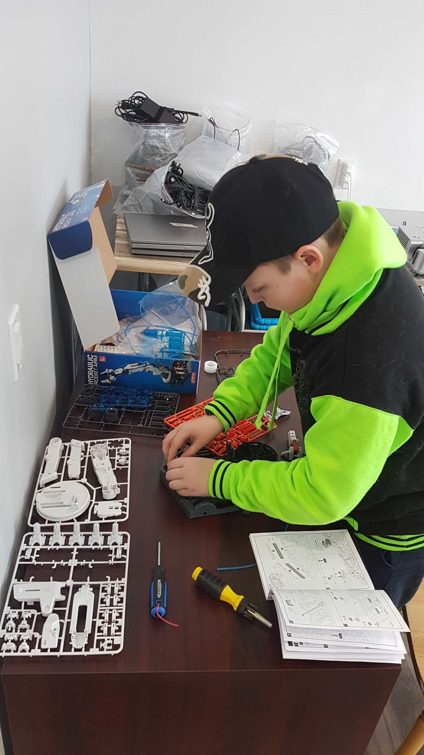 A student creating at a Pinnguaq Makerspace.