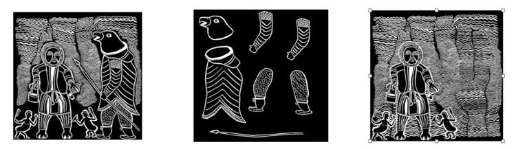 pieces of indigenous artwork