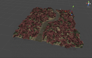 3d modeled textured forest