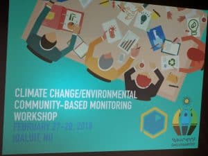 Climate change workshop banner