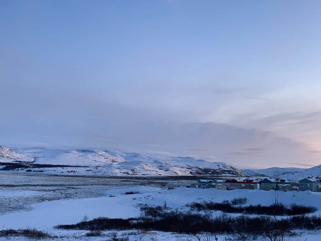 digital skills- beautiful open landscape with mountains in Kangiqsualujjuaq