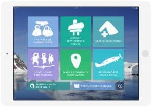 iPad version of Health NU app