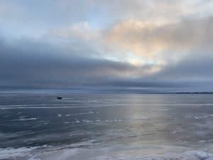 baker lake sunset