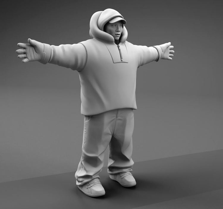3D model of qalupaliks main character with no texture