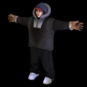 Qalupalik character Ani 3D model T posing