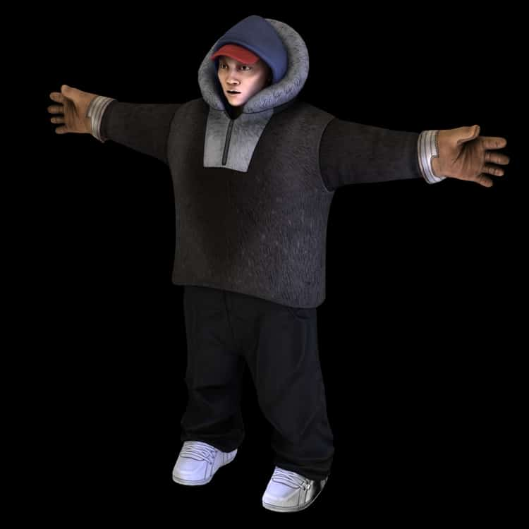 3D model of qalupaliks main character