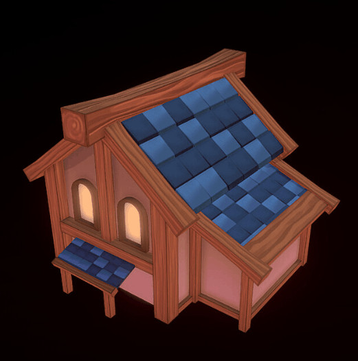 A small house Alyssa modeled and textured at work during her free time using Blender and Sketchfab!