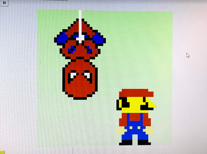spiderman and mario made with graphicsgale