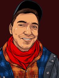 An illustrated portrait of Brandon.