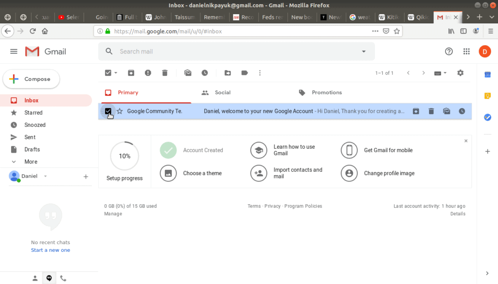 check box checked on the Google Communities email