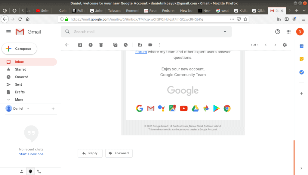 Google community email open on gmail.
