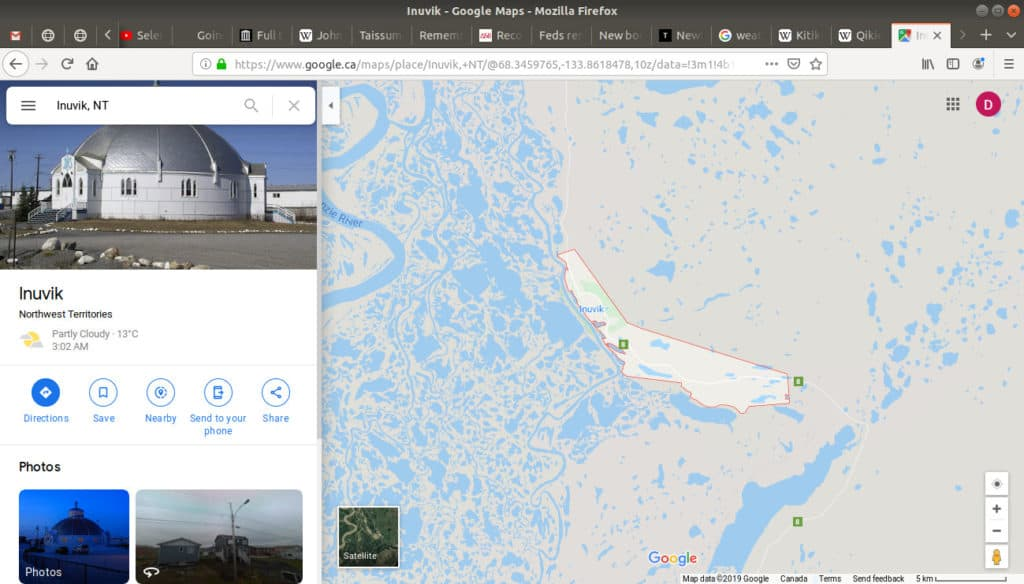 Inuvik, NT open in google maps.