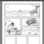 Work in progress of a comic created using Krita.