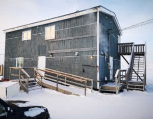 The Iqaluit Makerspace building during the winter.