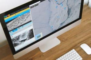Siku app on laptop screen
