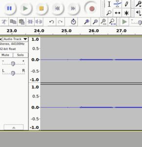 A screenshot of the Audacity interface.