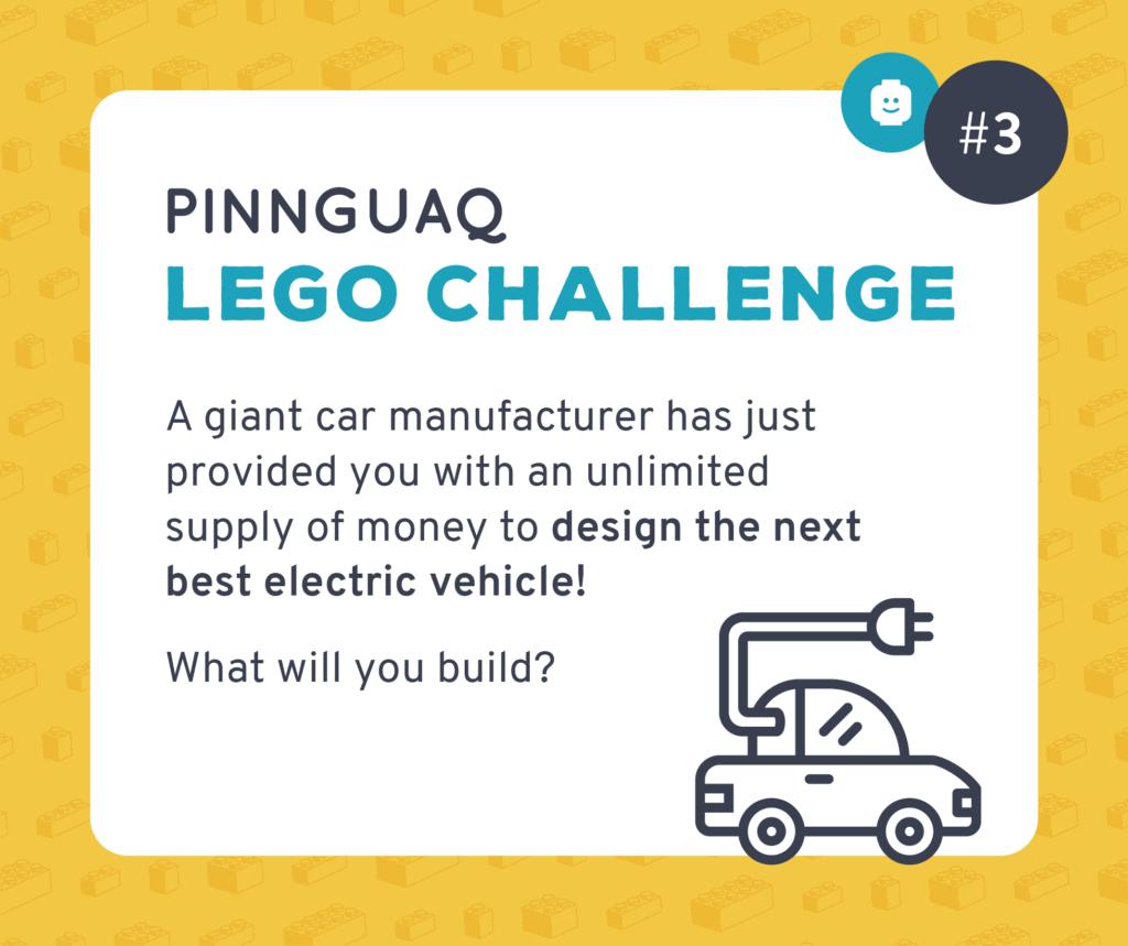 Pinnguaq's Lego Challenge #3 card.