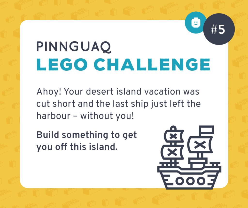 Pinnguaq's Lego Challenge #5 card.