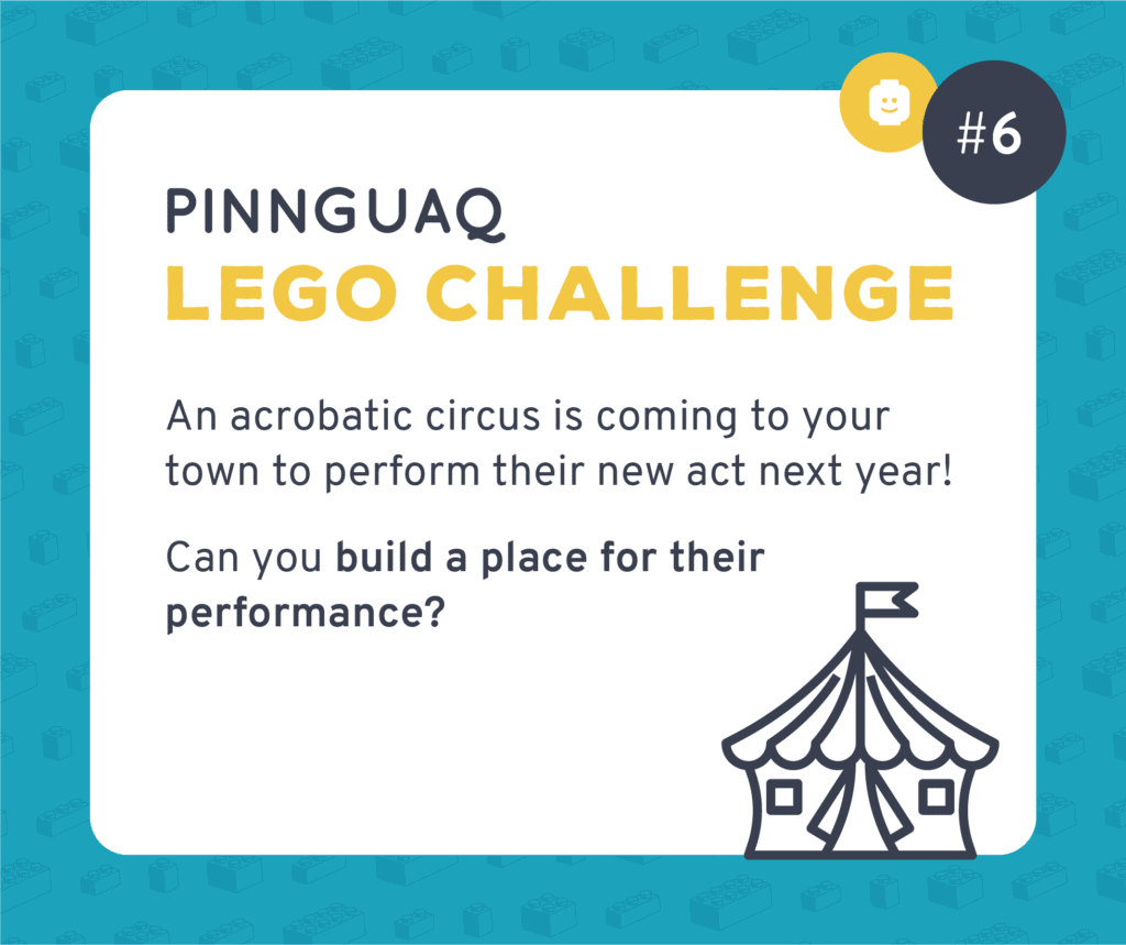 Pinnguaq's Lego Challenge #6 card.