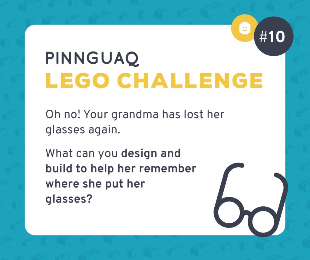 Pinnguaq's Lego Challenge #10 card.