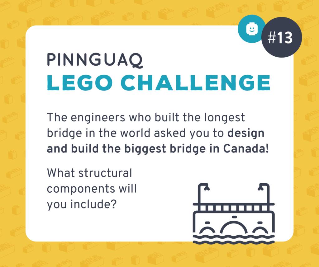 Pinnguaq's Lego Challenge #13 card.
