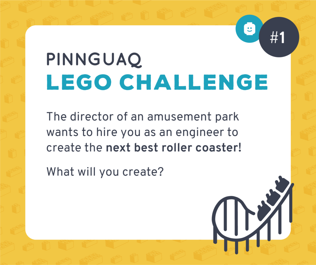 Pinnguaq's K–3 Lego Challenge #1 card.