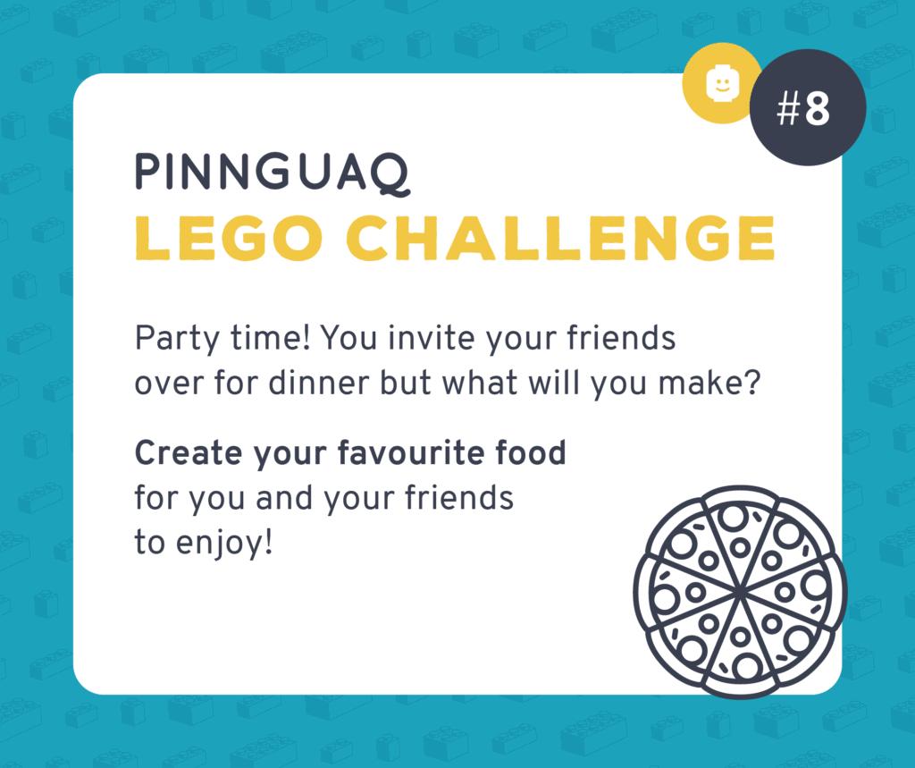 Pinnguaq's K–3 Lego Challenge #8 card.