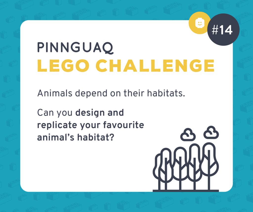 Pinnguaq's K–3 Lego Challenge #14 card.