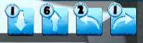 Nanili direction blocks showing 6 forward arrows, 1 backwards arrow, 2 left arrows, and 1 right arrow.