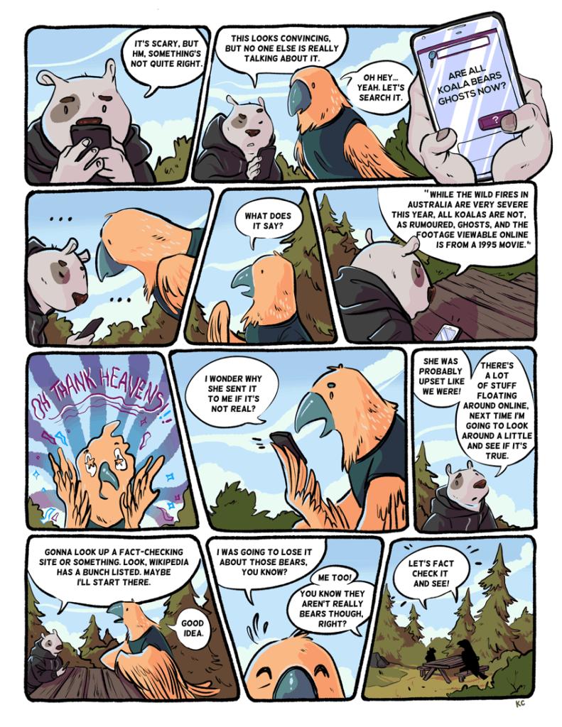 bearanormal activity comic