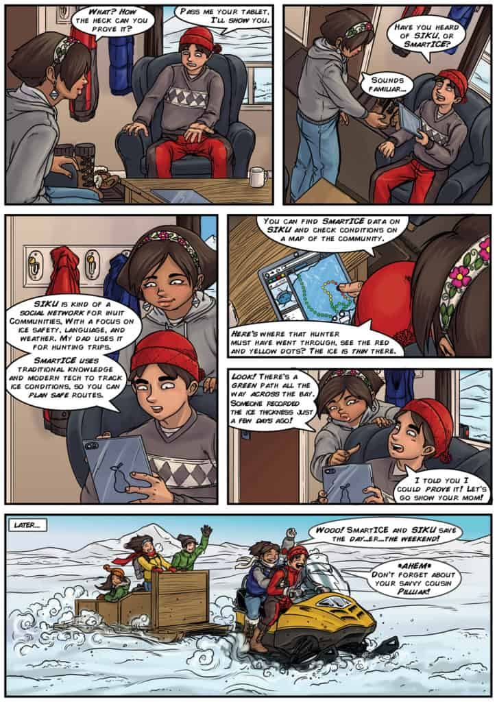 The second page of the bytesized comic by Ian MacLean.