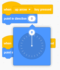 Changing the direction of an arrow key.
