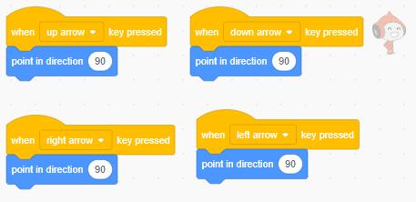 Different arrow keys in Scratch,