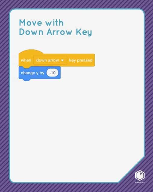 Move with Down Arrow Key Scratch card