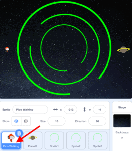 Lost in Space in Scratch