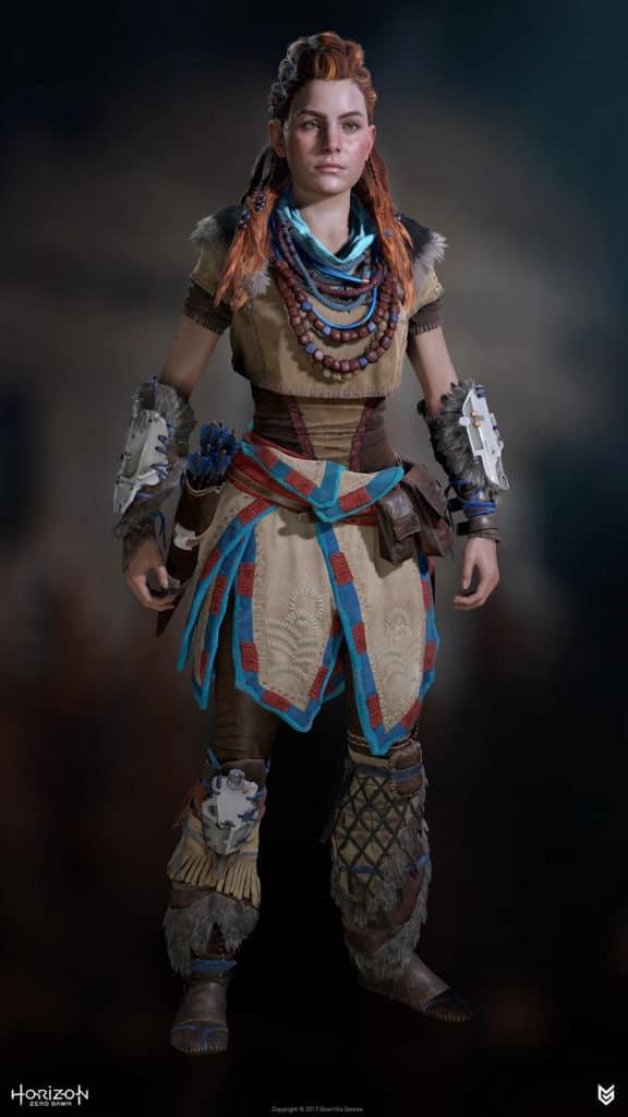 Game character Aloy, from Horizon: Zero Dawn