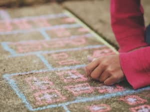Unplugged Coding: Hopscotch