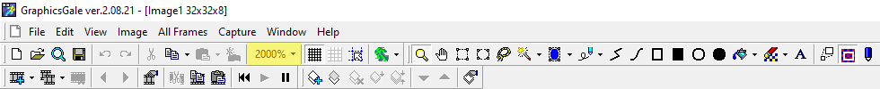 2000% highlighted in yellow, in the top tab of Graphicsgale.