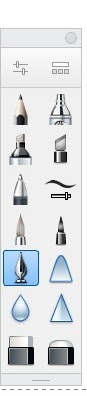 Autodesk Sketchbook's inking pen tool.