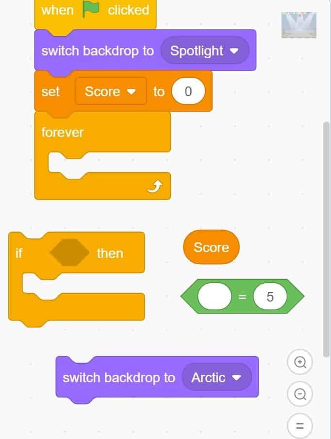 Scratch code blocks.