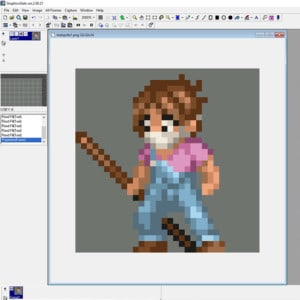 pixel art example in graphicsgale