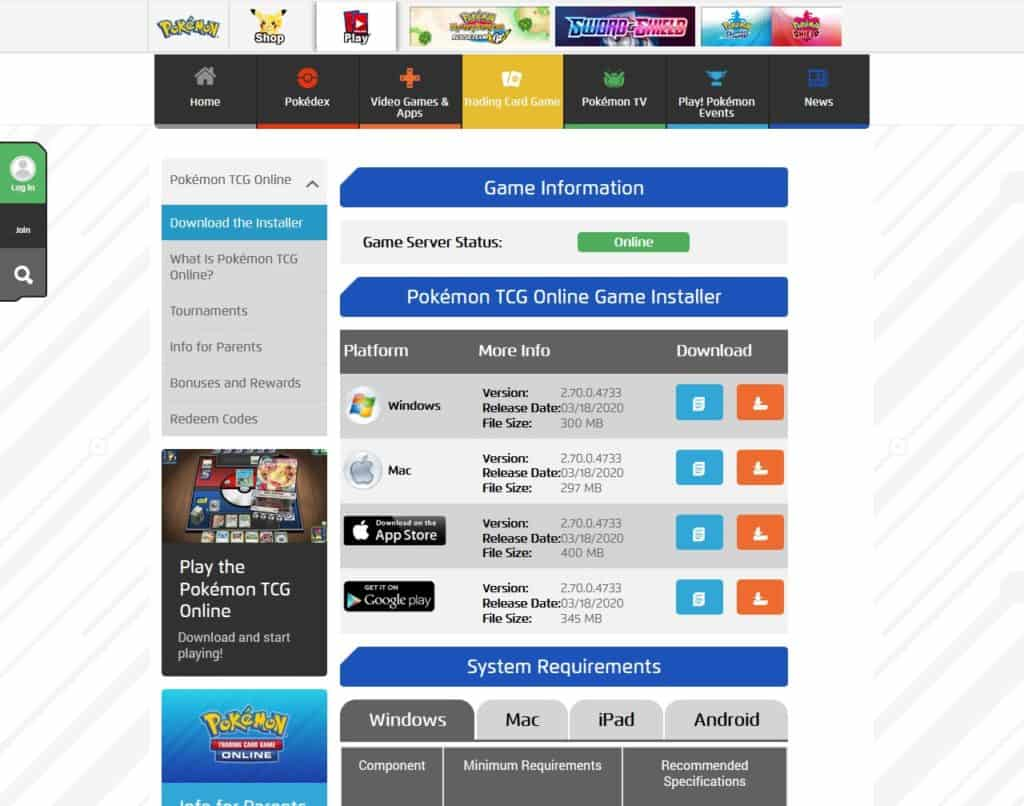 Pokemon tcgo game installer