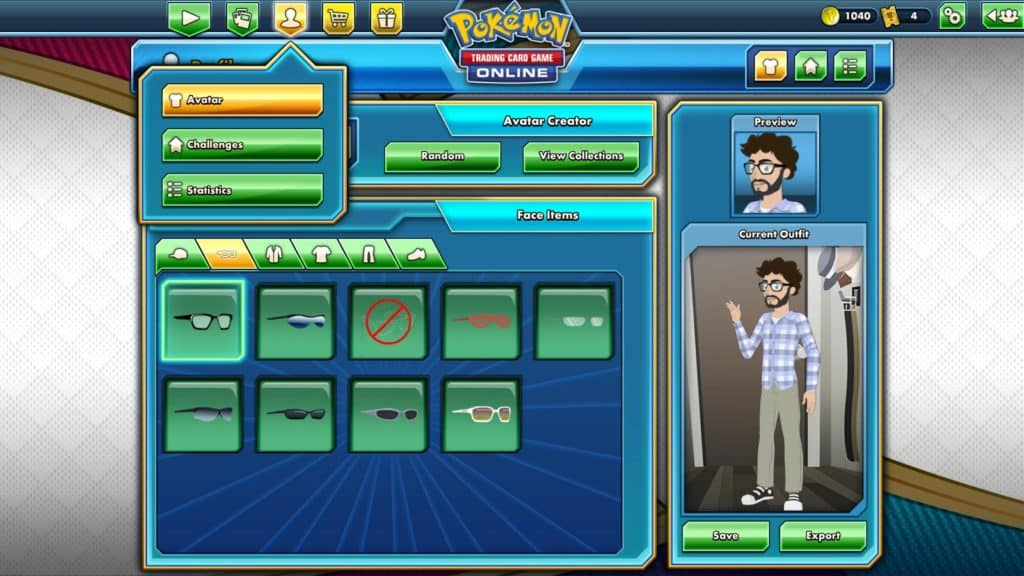 character creator in pokemon tcgo