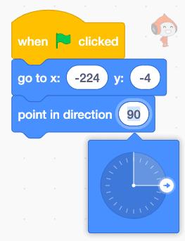 Code blocks in Scratch.