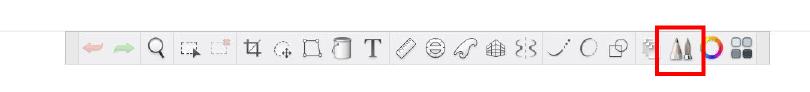 Tool bar in Autodesk Sketchbook.