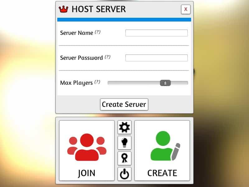 Host server window in Tabletop Simulator