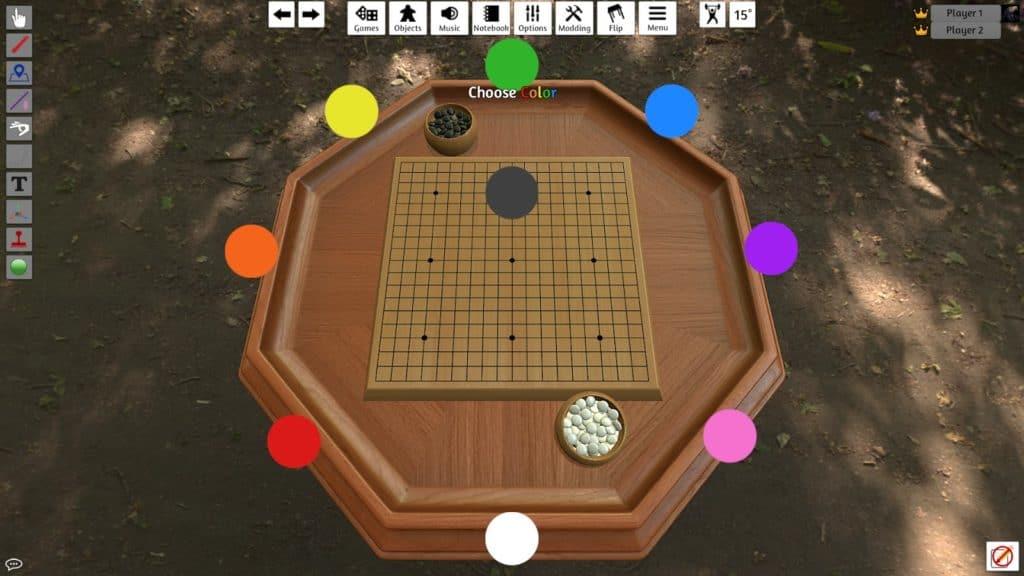 Board game in Tabletop Simulator